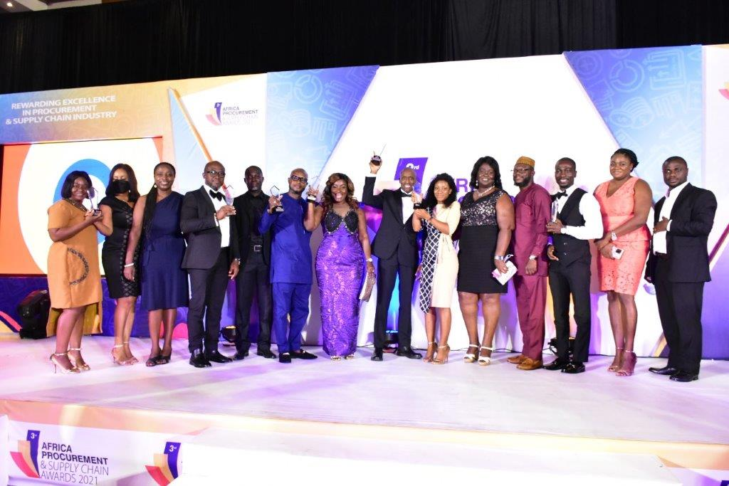 MTN Ghana procurement and supply chain team adjudged team of the year (Gold) at the 3rd Africa procurement and supply chain awards