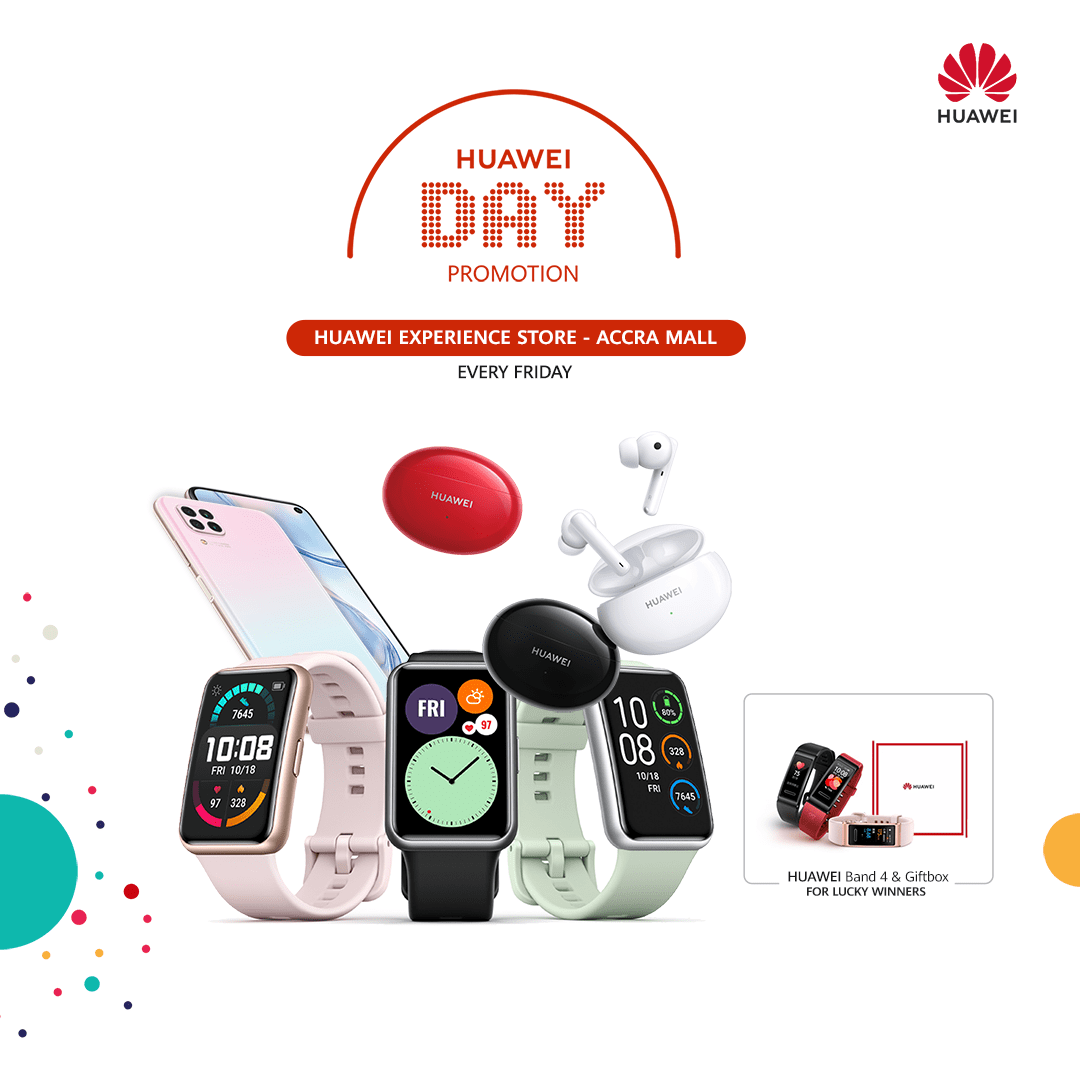 Enjoy Huawei Day this and every Friday at the Huawei Experience Store Accra Mall!