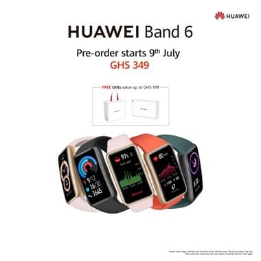 Preorder the new and stylish HUAWEI Band 6 in Ghana and enjoy some amazing gifts