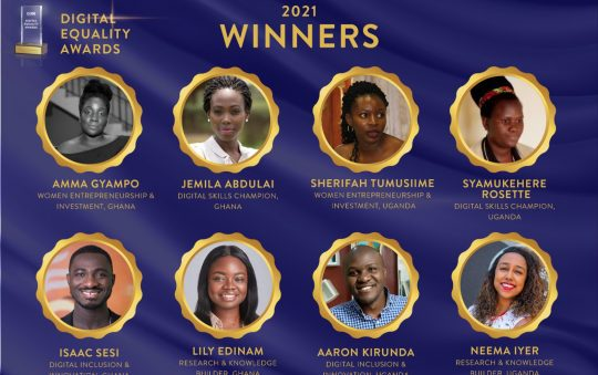 Winners announced for the 2021 Digital Equality Award