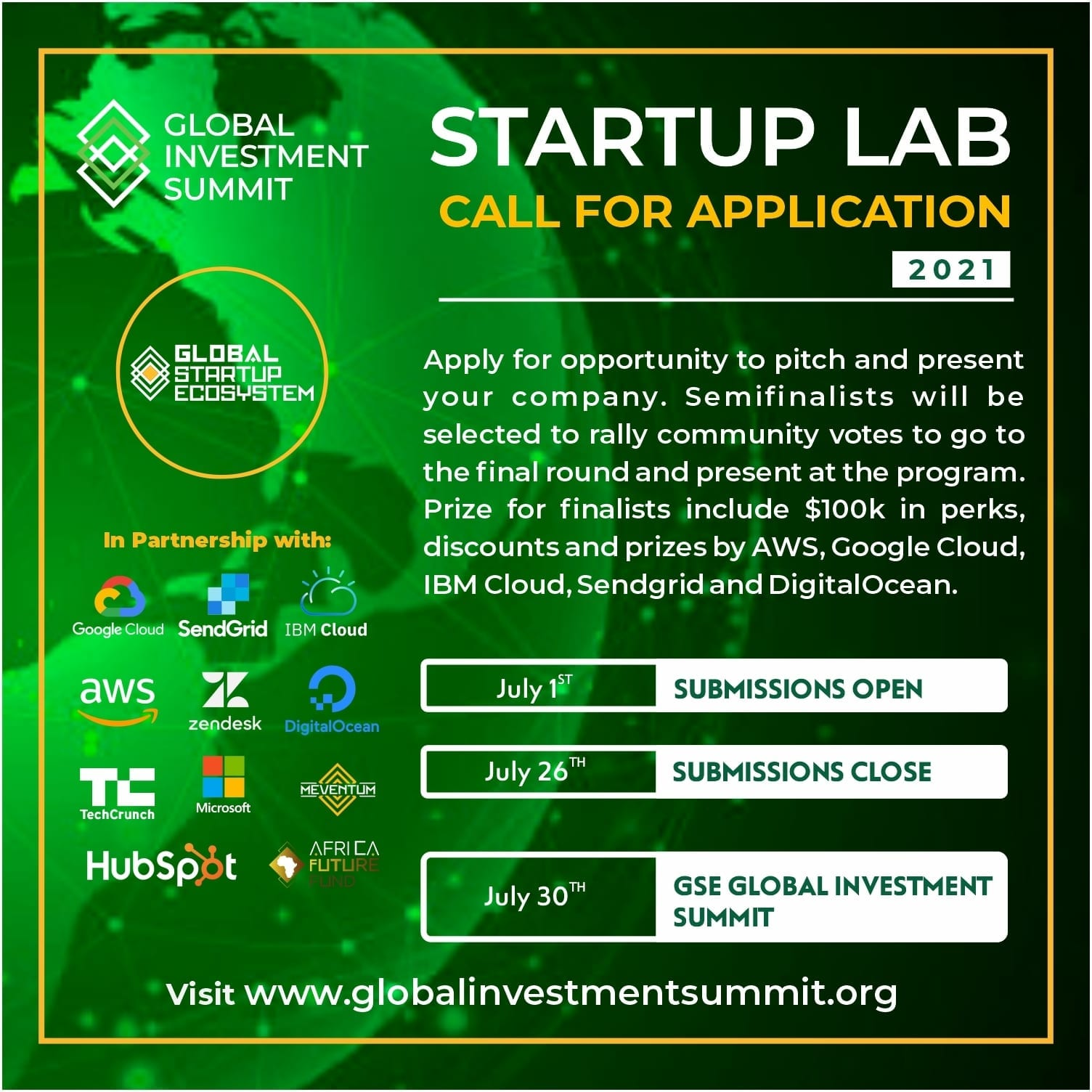 """Global Startup Ecosystem (GSE) announces free access to annual """"GSE Global Investment Summit"""" to connect founders to investors"""