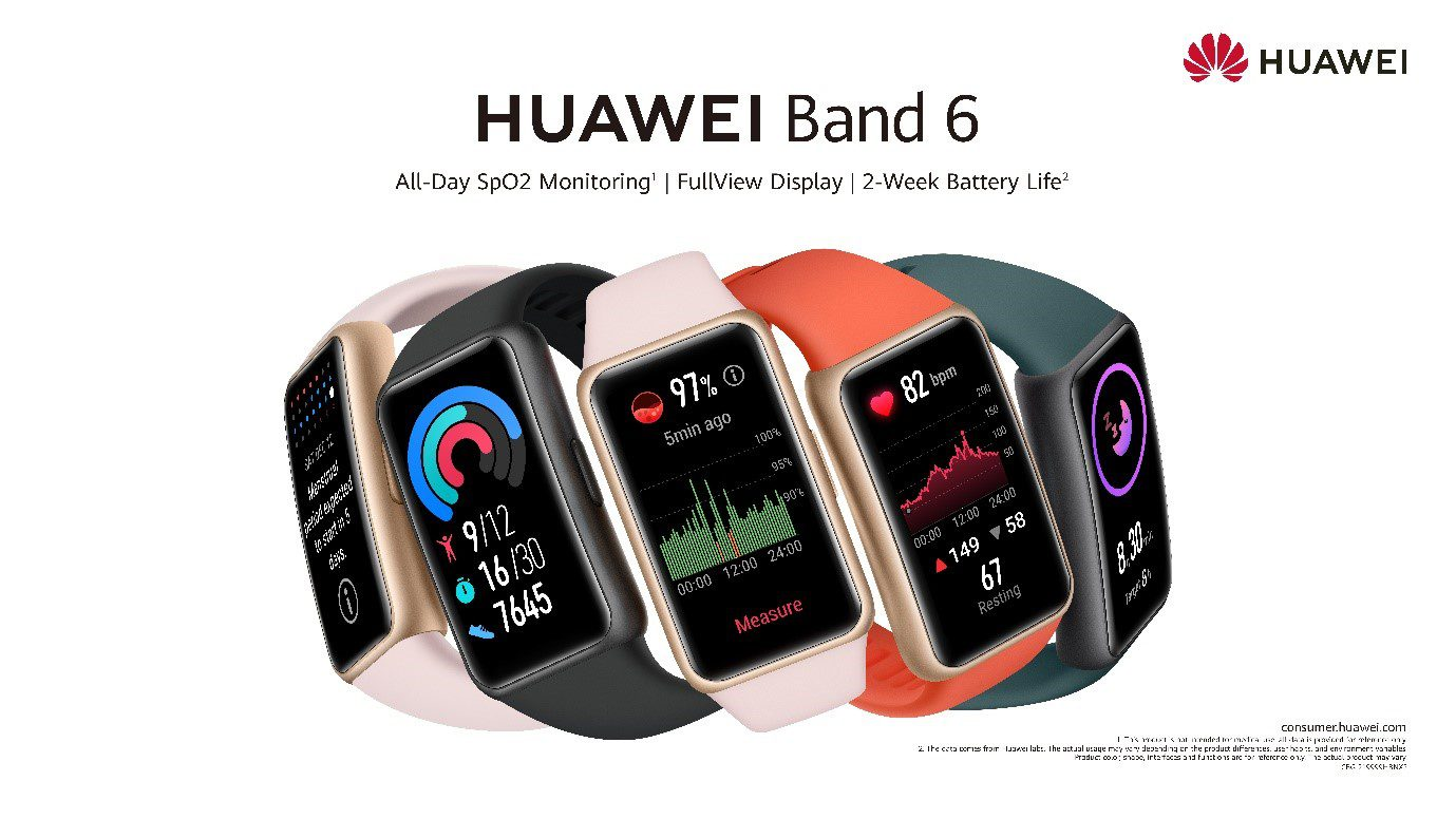 Achieve your fitness goals while keeping tabs on your health with Huawei's latest smart band, the HUAWEI Band 6