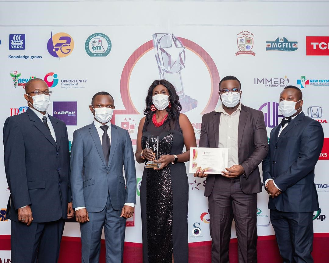 """Emirates presented with the """"International Airline Brand of the Year"""" award at 2021 Ghana Business Standard Awards"""