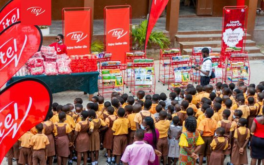 """Itel Ghana donates to LA South Cluster of Schools through its """"itelWandering Library Project"""""""